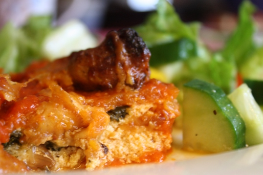 Sausage and Sweet Potato Lasagna