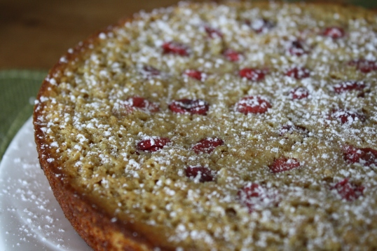 Cranberry-Lemon Ricotta Cake