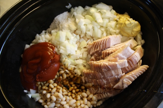 place all 'first stage' ingredients into slow cooker
